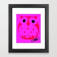 Owl ROCK! Framed Art Print