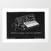 Moog pun Art Print