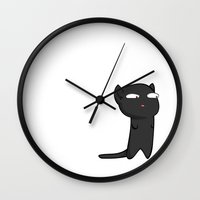 Black Cat Wall Clock