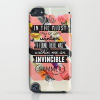 iPod Touch Cases featuring The Invincible Summer by Kavan and Co