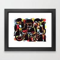 BLACK CATS Framed Art Print