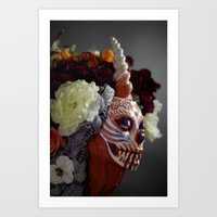 Tiger Blossom Muertita Detail Art Print