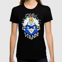 Chillin' Like A Villain Womens Fitted Tee Black SMALL