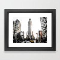 Desaturated New York Framed Art Print