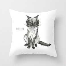 Siamese Siamese  Throw Pillow