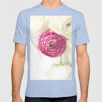 Pink Ranunculus 2 Mens Fitted Tee Tri-Blue SMALL