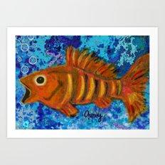 Golden Striped Bass Art Print