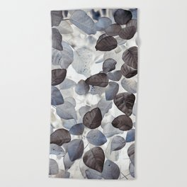 Beach Towel - Blue Leaves - dada22