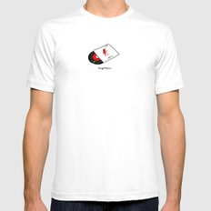 Vinyl Vicious White Mens Fitted Tee SMALL