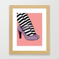 Pretty Mary Janes Framed Art Print