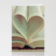 i heart books Stationery Cards