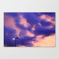clouds(flying) Canvas Print
