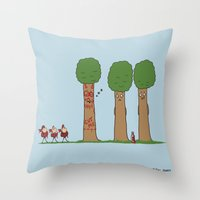Tree Prank Gone Wrong Throw Pillow