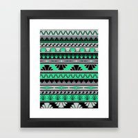 Art Deco Stripes - Green… Framed Art Print