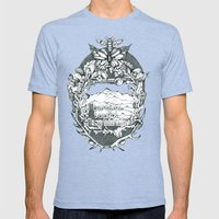 M B M Mens Fitted Tee Tri-Blue SMALL