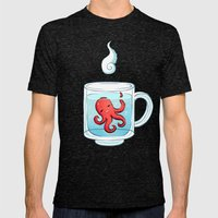 Octopus Tea Mens Fitted Tee Tri-Black SMALL