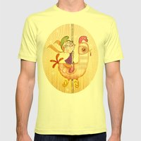 Carousel Mens Fitted Tee Lemon SMALL