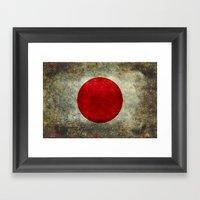 The National Flag Of Jap… Framed Art Print