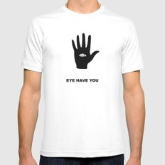 eye hand White SMALL Mens Fitted Tee