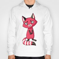 Hoody featuring Shy Raccoon by Freeminds