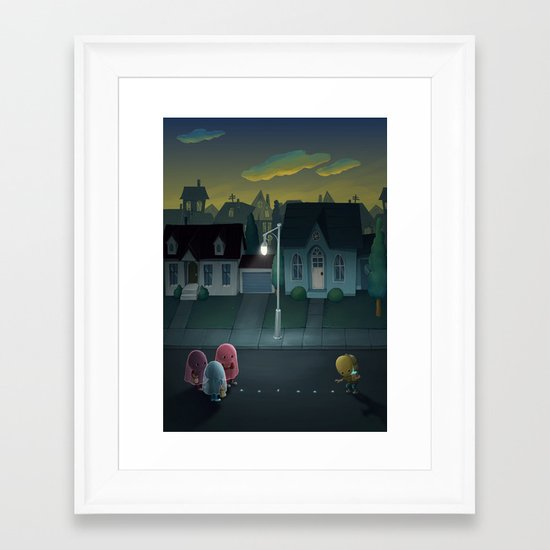 Pacman: Halloween Edition Framed Art Print