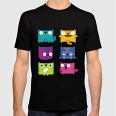Cats Black SMALL Mens Fitted Tee