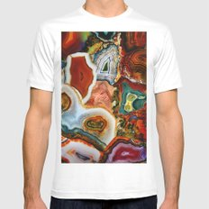 The Earth for the all-pervading Skies, the Moon and the Sun Mens Fitted Tee White SMALL