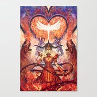 Twisted Lovers Canvas Print
