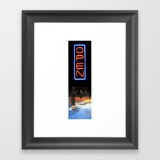 NYC: NOW OPEN! Framed Art Print