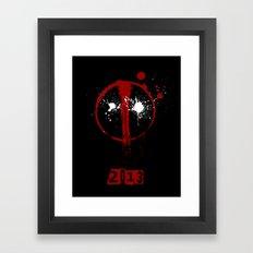 Deadpool. Framed Art Print