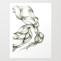 Whimsical Braids Art Print