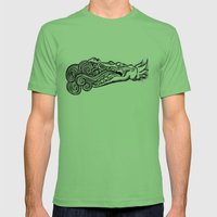 crocodile Mens Fitted Tee Grass SMALL