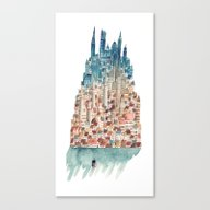 Canvas Print featuring City by Gemma Capdevila
