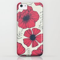 iPhone 5c Cases featuring Raspberry Flowers by Tracie Andrews
