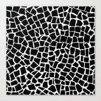 British Mosaic Black and White Canvas Print