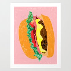 Burger, 2013. Art Print