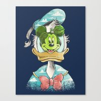 duck magritte Canvas Print