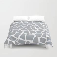 Mosaic Zoom Grey Duvet Cover
