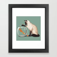 Goldfish need friend Framed Art Print
