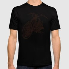 MOTOR Mens Fitted Tee Black SMALL