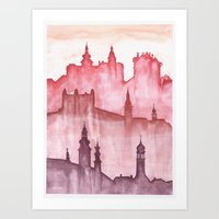 My Cities Art Print