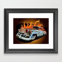 Caddy Rat Rod Framed Art Print