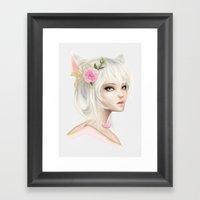 Peony Study Framed Art Print