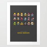 Mega MotU: Heroic Warriors Art Print