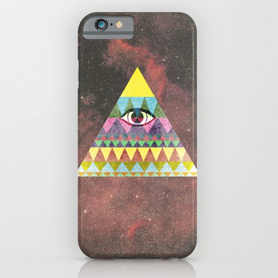 Pyramid in Space. iPhone & iPod Case