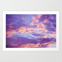 Dreamy Clouds Art Print