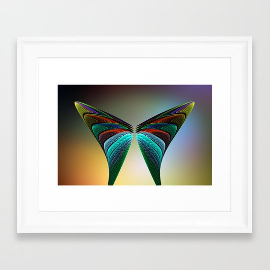 Fractal Butterfly Framed Art Print