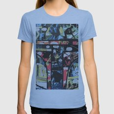 Boba Fett Collage Womens Fitted Tee Athletic Blue SMALL