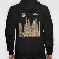 boston skyline vintage Hoody