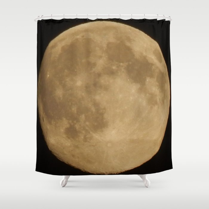Full Moon Shower Curtain By DanByTheSea